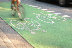 City Cycle Lane Stock Photography