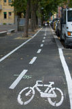 City cycle lane Royalty Free Stock Images