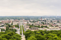 City Czestochowa view from the church tower at Jasna Gora Monastery (Jasna Gora). Stock Images