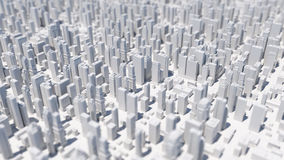 city 3d rendering background with depth of field macro effect Stock Photo