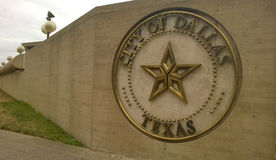 City of Dallas sign. At the city hall downtown of Dallas, TX Royalty Free Stock Photography