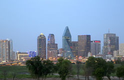 City of Dallas  skyline night scenes background Royalty Free Stock Photos