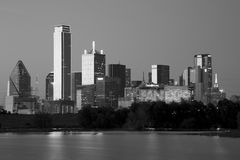 City Dallas skyline night scenes Royalty Free Stock Photo