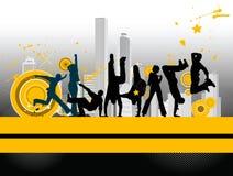 City dancers. Stock Photo