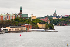 City, Danvikshem, Sofia Church in Stockholm Stock Image