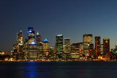 City After Dark Stock Photography