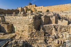 City of David, Jerusalem, Israel. Archeological site of ancient Stock Photo