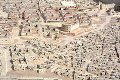 The City of David A model Royalty Free Stock Photo