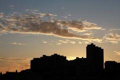 City at dawn Royalty Free Stock Photos