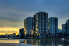 City dawn Stock Image