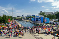 City Day celebrations in Yekaterinburg Royalty Free Stock Photo