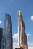 city day kremlin moscow outdoor Ουρανοξύστες υδραργύρου και ομοσπονδίας Στοκ Εικόνες