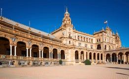 city de西班牙著名地标老广场塞维利亚西班牙 免版税库存照片