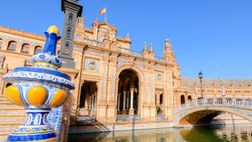 city de espana διάσημο παλαιό plaza Σεβίλλη Ισπανία ορόσημων Στοκ εικόνες με δικαίωμα ελεύθερης χρήσης