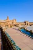 city de espana διάσημο παλαιό plaza Σεβίλλη Ισπανία ορόσημων Στοκ εικόνα με δικαίωμα ελεύθερης χρήσης
