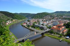 The city of Decin Royalty Free Stock Image