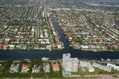 City of Deerfield Beach and Intracoastal Royalty Free Stock Photography
