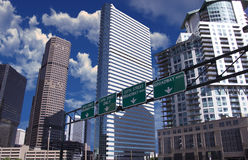 City of Denver Colorado. Going into the heart of the city Royalty Free Stock Photo