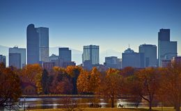 City of Denver Skyline Royalty Free Stock Image