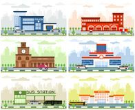 City departments buildings stock image