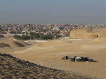 City and desert. In Giza city, Egypt. Africa Stock Photography