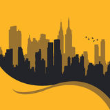 City Design. Vector illustration of a cityscape Stock Photography
