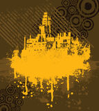 City design. A spray paint design of a city skyline. Also in .ai file