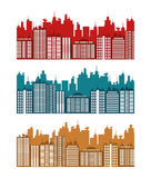 City design. Building icon. Colorful illustration , vector Royalty Free Stock Photo