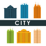 City design. Building icon. Colorful illustration , vector Royalty Free Stock Images