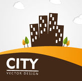 City design. Over white background vector illustration Royalty Free Stock Photography