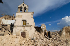 City destroyed by an. Earthquake Royalty Free Stock Images