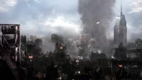 City Destroyed Paris End of the World Apocalypse War Eiffel Tower 3D Renderings Animations