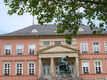 The city of detmold in germany. The city of Detmold and the hermannsdenkmal in germany stock image