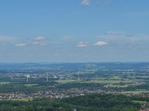 The city of detmold in germany. The city of Detmold and the hermannsdenkmal in germany royalty free stock photo