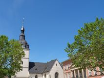 The city of detmold in germany. The city of Detmold and the hermannsdenkmal in germany stock photography