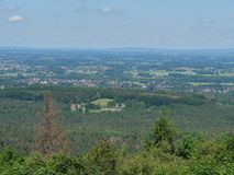 The city of detmold in germany. The city of Detmold and the hermannsdenkmal in germany stock images