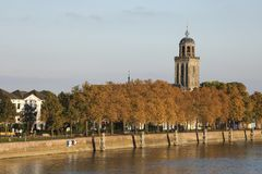 The city of Deventer, The Netherlands, on a sunny day in autmn. The city of Deventer, The Netherlands, on a beautiful evening in autumn. These sunny days in Royalty Free Stock Images