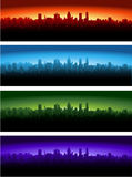 City at different time of the day Royalty Free Stock Photo