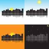 The city at different times of day Royalty Free Stock Photos