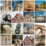 City of Dijon  collage Royalty Free Stock Photo