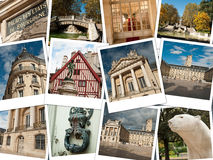 City of Dijon collage. City of Dijon in France - instant picture concept collage royalty free stock images