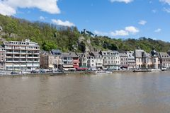 City of Dinant along the river Meuse, Belgium Royalty Free Stock Photos