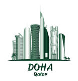 City of Doha Qatar Famous Buildings Royalty Free Stock Photos