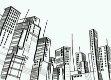 City and dome and drawing and architecture. Mega city and dome and drawing and architecture Stock Image