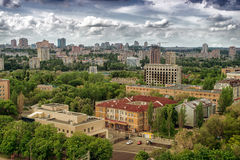 City of Donetsk, Ukraine. The beautiful city of Donetsk, Ukraine. A bird's-eye Royalty Free Stock Photography