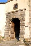 City door in Buzet,Croatia Royalty Free Stock Images