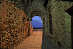 City Door of San Gusm� (Tuscany) Stock Photo