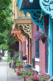 City doorways with corbels Royalty Free Stock Image