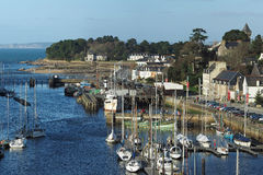 City of Douarnenez harbor, december 2015, France Royalty Free Stock Photos