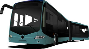City double bus Royalty Free Stock Image
